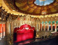 Stage of the Fox Theater, Detroit Michigan.