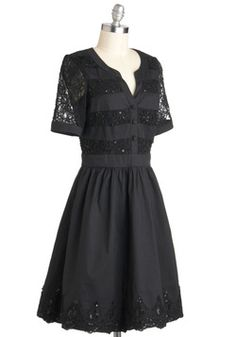 Well-to-Dew Dress in Noir, #ModCloth