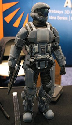 Coolest 3D Creations at the Inside 3D Printing Expo : A warrior made on a Stratasys 3D printer.