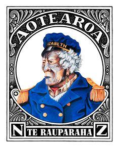 Aotearoaland Te Rauparaha // Lester Hall [Bay of Islands] Henna, Maori Patterns, Bay Of Islands, Maori Designs, New Zealand Art, Aboriginal Culture, Nz Art, Maori Art, Kiwiana