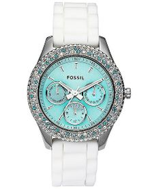 Fossil Watch - Stella Silicone with Tiffany Blue ♥