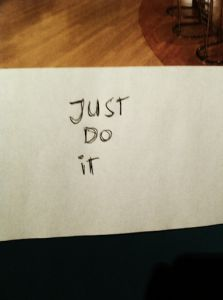 Just do it .....