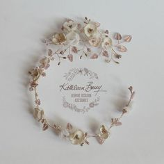 Wendy Rose gold champagne blush pink flower wedding bridal hair accessory accessories - wedding headband - Bride hair wreath -  flower crown #Champagne-Gold #Pink-/-Blush-Pink #Rose-Gold-Toned