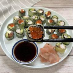 Keto Sushi, California And Philadelphia Rolls
