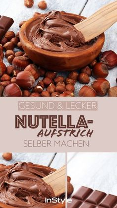 Dieser Nutella-Aufstrich ohne Zucker macht nicht dick – und du kannst ihn easy selber machen We have a delicious recipe for a Nutella spread without sugar that is super tasty but does not make you fat at all. Healthy Dessert Recipes, Clean Recipes, Healthy Nutella Recipes, Easy Recipes, Sugar Free Nutella, Nutella Vegan, Snacks Sains, Nutella Spread, Tasty
