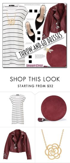 """Throw and Go Dress"" by selena-gomezlover ❤ liked on Polyvore featuring Diane Von Furstenberg, Lord & Taylor and Kenneth Jay Lane"