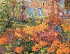 Flower Garden, 1908 , by Emil Nolde
