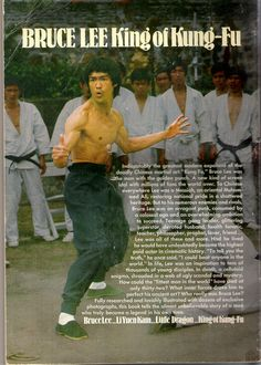 Bruce Lee Book 1974 (Back Cover)