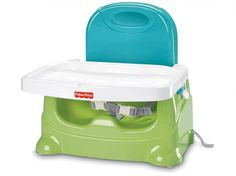 Lightweight and unobtrusive, this Fisher-Price booster can be popped atop any standard seat for an instant high chair without a big footprint