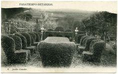 Xardín comedor no Parque do Pasatempo en Betanzos a comezos do século XX