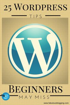 25 Quick Wordpress Tips Beginners May Miss -- I have used Wordpress for years, and I still learned several things reading this! You want a Top wordpress plugins - secuirty pluigns: Click Visit link for