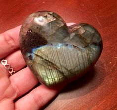 Heart shaped Labradorite