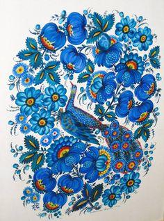 Автор:Валентина Панко,Petrykivka art , Ukraine,from Iryna