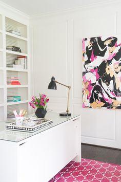 Peek Inside This Glamorous Home Office | Washingtonian- Naina Singla