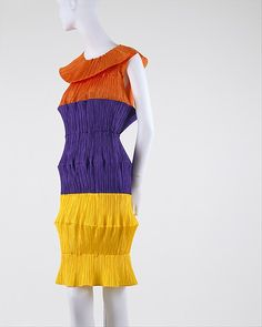 Dress by Issey Miyake (Japanese, born 1938) from Spring/Summer 1994 in polyester from the @metmuseum Costume Institute.
