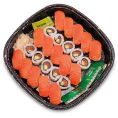 Bespoke Sushi Platters ❤ liked on Polyvore featuring filler, fillers - orange and food