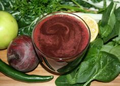 2 beets 4 Swiss chard leaves (and stems) ½ bunch of spinach 1 apple 1 handful of parsley 1 lemon 1 jalapeno (optional) detox drinks with parsley Detox Juice Recipes, Detox Drinks, Healthy Drinks, Smoothie Recipes, Juice Smoothie, Fruit Smoothies, Joe Cross Juicing, Juicing With Joe, Juice Reboot