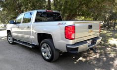 Silverado 1500 LTZ Z71 with short box and optional 20-inch polished chrome wheels with all-season tires