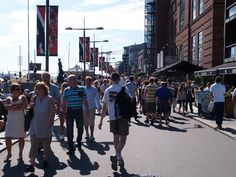 Aker Brygge, old shipyard turned into popular shopping area, with many restaurants and art museums