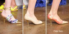 Peter Som x Tabitha Simmons shoes for Peter Som Spring 2013