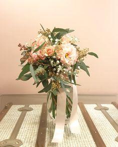 #クラッチブーケ#かすみ草#アンティーク#ユーカリ#トルコキキョウ#乃木會館#wedding #bridal
