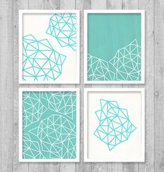 "Geometric Digital Printable Wall Art Print 8""x10"" Set (Jpeg Files) - INSTANT DOWNLOAD - V249"