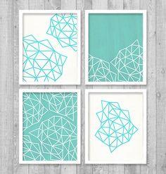 "Geometric Digital Printable Wall Art Print 8""x10"" Set (Jpeg Files) - INSTANT DOWNLOAD - V249"