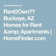 Buckeye AZ Homes For Rent Apartments