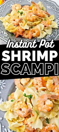 This delicious and simple instant pot shrimp scampi recipe takes minutes to make and can be served over pasta or rice for a quick and tasty dinner. #InstantPot #OnePot #Shrimp #DinnerRecipes #Garlic #RecipeIdeas