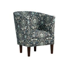 Troy Barrel Chair Moonlight Accent & Occasional Chairs ($329) ❤ liked on Polyvore featuring home, furniture, chairs, accent chairs, handcrafted furniture, colored furniture, colored chairs, patterned chairs and handmade furniture