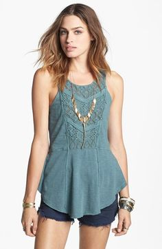 Free People 'Day Tripper' Peplum Tank available at #Nordstrom