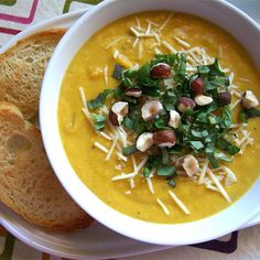 Spiced Butternut Squash Soup Lunch Recipes, Soup Recipes, Cooking Recipes, Healthy Recipes, Cooking Rice, Healthy Foods, Butternut Squash Soup, Easy Healthy Dinners, Soup And Salad