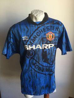 Maglia calcio manchester united 1992 umbro away football shirt vintage