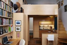 Small Spaces: 240 Square Foot NYC Apartment with a Library