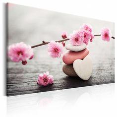 """Obraz na płótnie """"Zen: Kwiaty wiśni IV""""                     Orientalne motywy na obrazie """"Zen: Kwiaty wiśni IV"""" z pewnością spodobają się miłośnikom sztuki i kultury Dalekiego Wschodu. Egzotyczne inspiracje i oryginalne barwy sprawiają, że dekoracja ta może ozdobić wnętrze każdego pomieszczenia. Wydruk na płótnie """"Zen: Kwiaty wiśni IV"""" idealnie sprawdzi się nie tylko we wnętrzach mieszkalnych, ale również w takich miejscach jak hotele, salon spa czy gabinet kosmetyczny.      Elegancki obraz… Painting Frames, Painting Prints, Canvas Wall Art, Canvas Prints, Framed Wall Art, Graffiti Kunst, Toile Photo, Glass Printing, Stone Heart"""