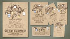 Rustic Wedding Invites and Save the Dates