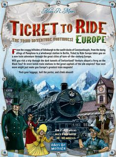 Game Rules - Ticket to Ride Game Tickets, Buy Tickets, Ticket To Ride, Family Board Games, Adult Games, Europe, Train, Adventure, Geek