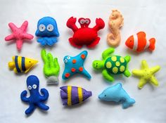 Felt Sea Creatures Collection  Magnets  Baby by LadybugOnChamomile, $59.99