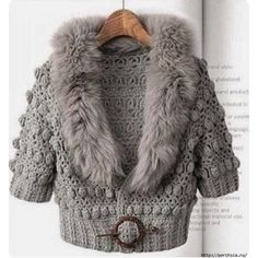Crochet Cardigan Outfit Winter Gray New Ideas Cardigan Au Crochet, Crochet Winter, Crochet Jacket, Knitted Coat, Crochet Cardigan, Knit Jacket, Gray Jacket, Jacket Style, Pull Crochet