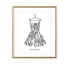 I like my money right where I can see it printable, sex and the city wall art, fashion quote, sex and the city print, Carrie Bradshaw