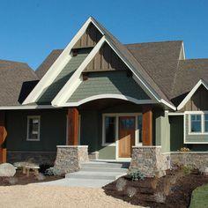 exterior photos sage green siding design - Stucco Design Ideas