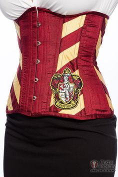 Wizarding Lion Long Line Corset by CastleCorsetry on Etsy Best Corset, Lace Tights, Waist Training Corset, I Am Awesome, Awesome Things, Slytherin And Hufflepuff, Hogwarts, Line, Comic Con Outfits