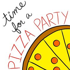 #Weekend is here! Great time to invite your friends for a #Pizza party with this trendy #ecard.#FridayFeeling Game Party, Diy Party, Pizza Party Birthday, Pizza Pizza, Friday Feeling, Pizza Recipes, Party Invitations, Invites, Handmade Cards