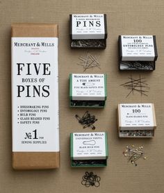 Five Boxes of Pins, Merchant & Mills | Purl Soho