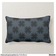 Charcoal grey pattern lumbar pillow Lumbar Pillow, Throw Pillows, Grey Home Decor, Grey Cushions, Grey Pattern, Decorative Cushions, Custom Pillows, Knitted Fabric, Dark Grey