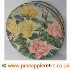 Pretty vintage rose tin
