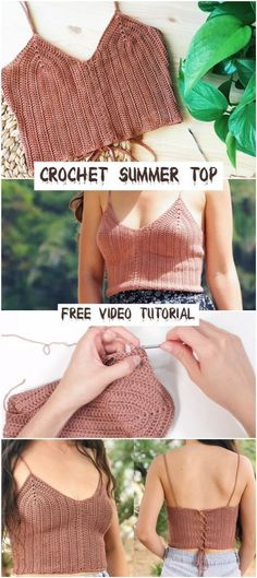 How To Crochet A Summer Top – Crochetopedia The Effective Pictures We Offer You About crochet patrones ganchillo A quality picture can tell you many things. You can find the. Crochet Summer Tops, Summer Knitting, Crochet Crop Top, Double Crochet, Crochet Tops, Crochet Top Outfit, Start Knitting, Crochet Skirts, Mode Crochet