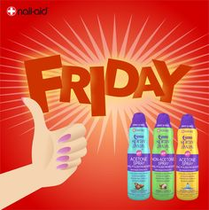 """Finally... IT'S FRIDAY!!! And for this #fridaynight you have to use our """"1 Minute Spray Away""""! Available now in all Walmart US stores and online on nailaidworks.com - FREE SHIPPING #sprayaway #nailaid #nailaidworks #nails #nailpolish #polishremover #hands #cute #girly #beautiful #girl #new #spring #summer #instagood #colorful #innovation #spray #aerosol #tutorial #acetone #nailart #nailcare #manicure #nail #friday #itsfriday #fridaymotivation #happyfriday #felizviernes"""