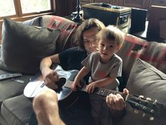 It is REALLY hard to play with Shep hogging my fretboard!!!! (Jared, FB)