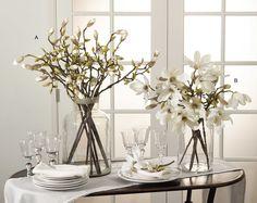 Assorted White Tulip Magnolia Stem